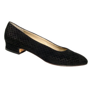 FERRAGAMO Vintage Suede Diamond Embossed Pumps
